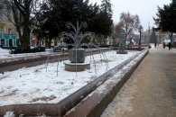 Зимові фонтани радують тернополян