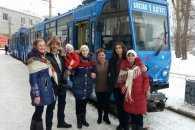 Жителі Дніпра колядували в трамваях