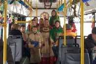 Вулицями Миколаєва курсував різдвяний тролейбус
