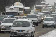 Столичні водії поспішають на роботу: На мостах незначні затори