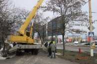В Інгульському районі демонтували п'ять рекламних конструкцій