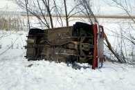 На Полтавщині угонщик перекинувся на викраденій автівці