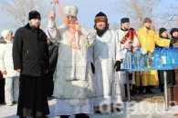 У Дніпрі одну ополонку святили церковники київського і московського патріархатів