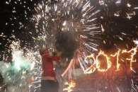 Головна ялинка Вінниці погасла після вогняного шоу (ФОТО, ВІДЕО)