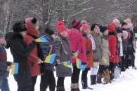 Школярі Краматорська оригінальним способом відзначили прийдешній День Соборності (ВІДЕО)