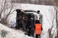 На Тернопільщині перекинувся автобус з паломниками з трьох областей