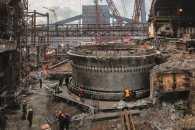 Половина робіт із будівництва нової домни на заводі Запоріжсталь позаду