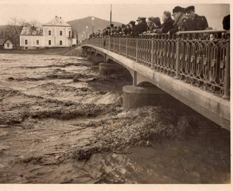 Високий рівень води у Латориці 1958 рік