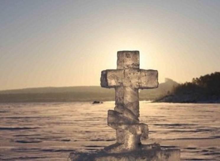хрест із льоду