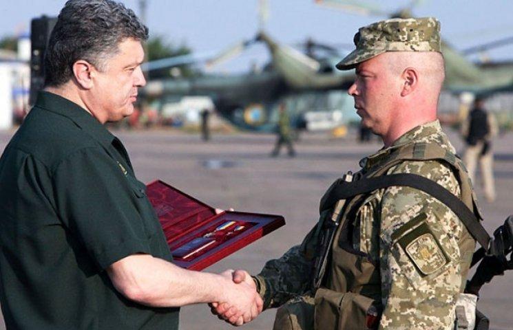 Кого з бойових укропів підвищив Порошенко: полковник Михайло Забродський