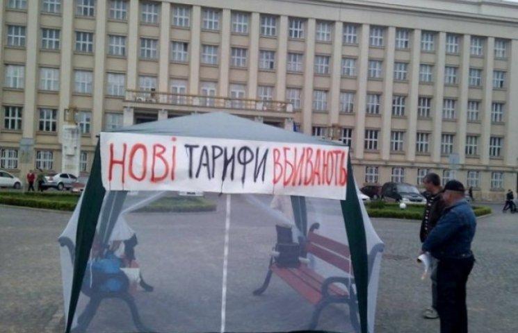 """""""Тарифний Майдан"""" на Закарпатті розпочався із порушення ПДР (ФОТОФАКТ)"""