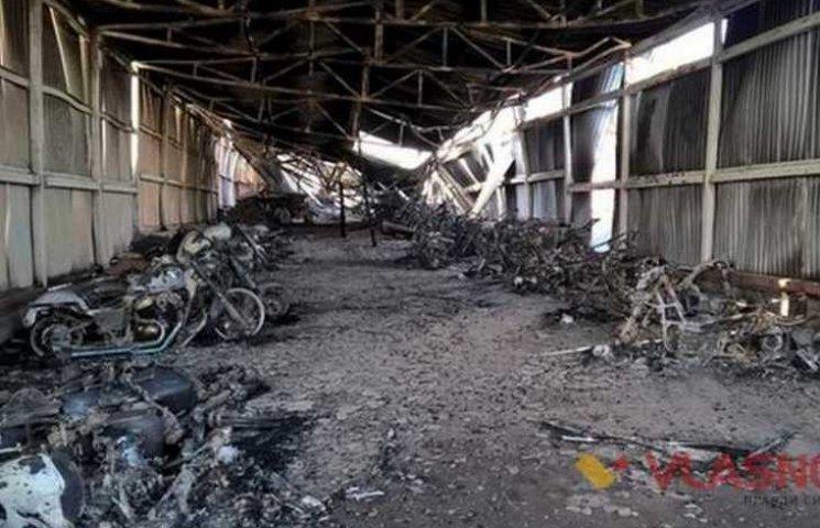 Під Вінницею спалили мотоциклів на 5 мільйонів гривень