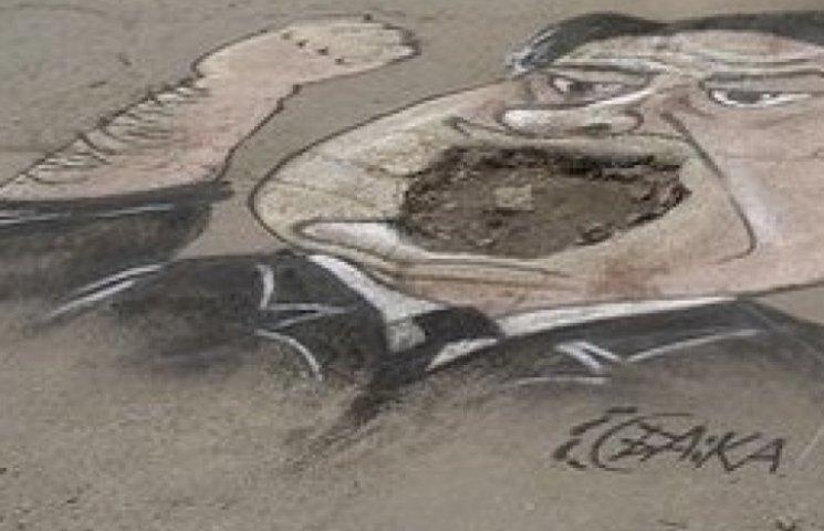 В Одесі на місці дорожньої ями намалювали портрет голови управління дорожнього господарства