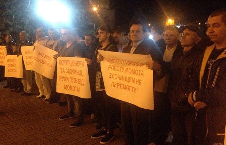 """У Вишгороді влаштували """"майдан"""" на підтримку мера, якого зловили на хабарі"""