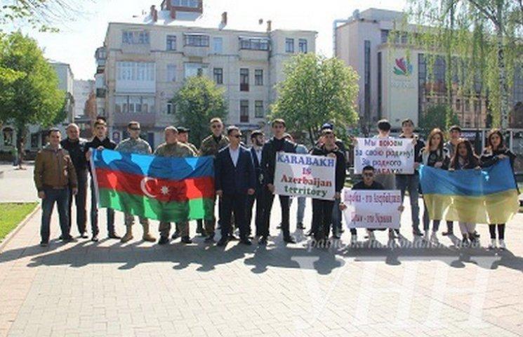 Азербайджанці мітингували проти Росії у Вінниці