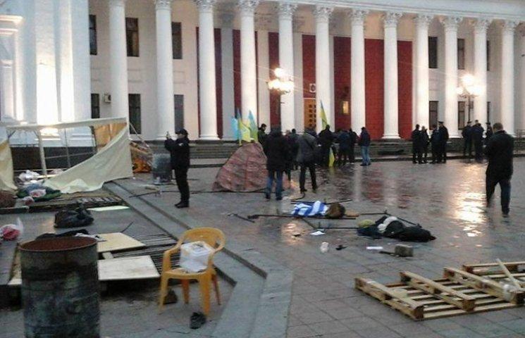 """В Одесі поліція затримала п`ятьох нападників на """"антитруханівський майдан"""""""