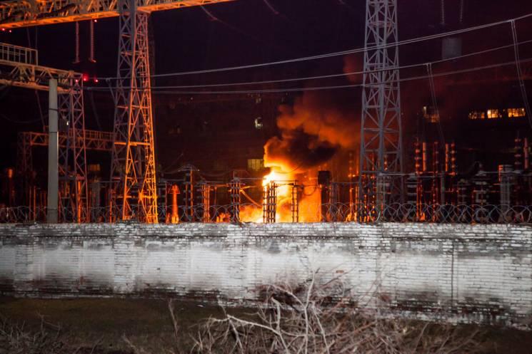 Ночью вДнепре произошел пожар наПриднепровской ТЭЦ