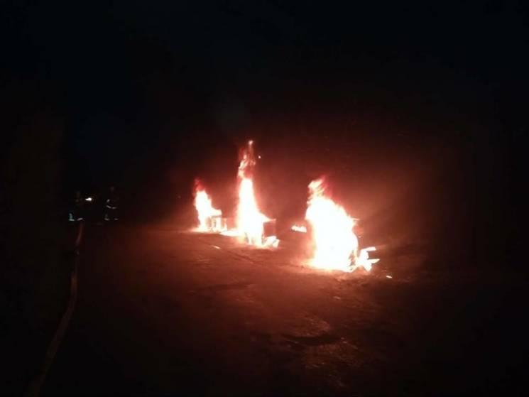 На Миколаївщині під час руху спалахнув КамАЗ (ФОТО)