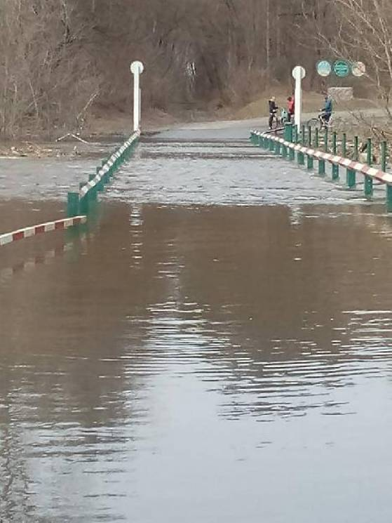 На Сумщині міст затопило водою