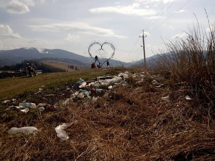 """""""Серце Карпат"""" губиться у горах сміття (ФОТО)"""