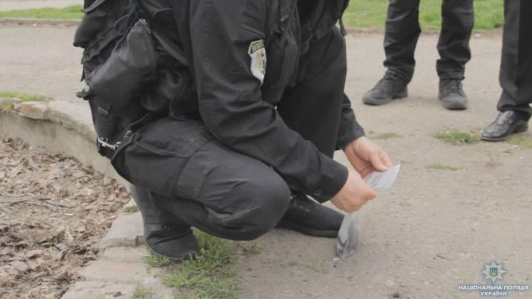На Італійському бульварі знайшли гранату (ФОТО)
