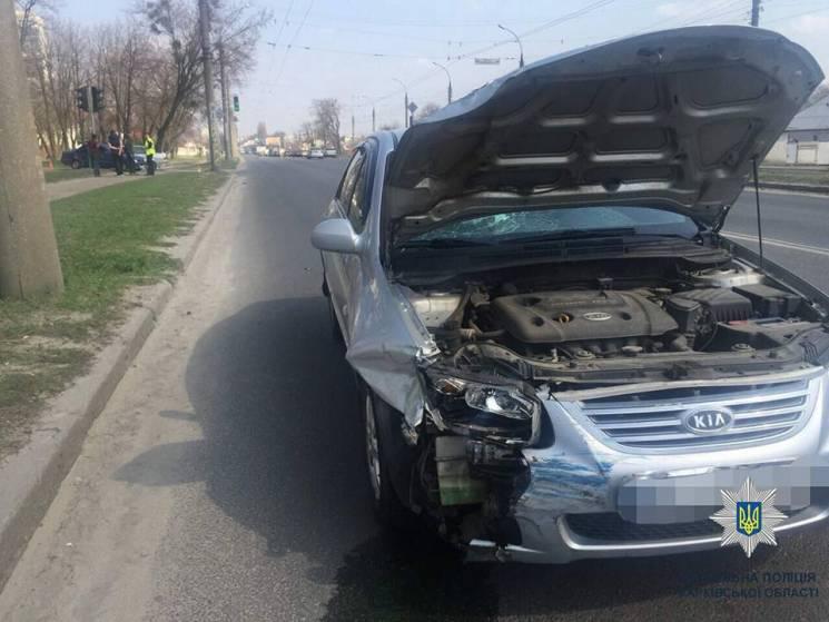 Дві іномарки не поділили проспект у Харкові (ФОТО)