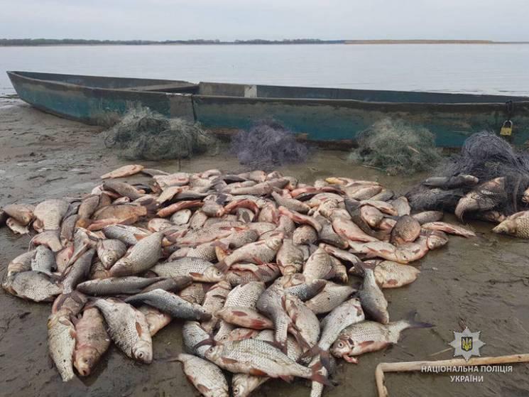 На Полтавщині копи затримали браконьєра з 70-кілограмовим рибним уловом