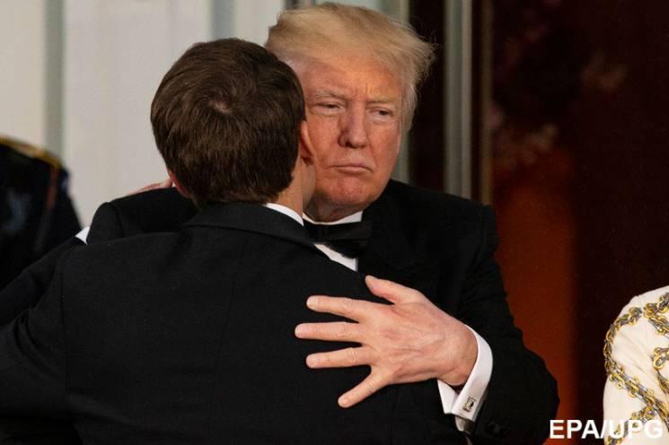 Объятия с Трампом: Как визит Макрона в С…