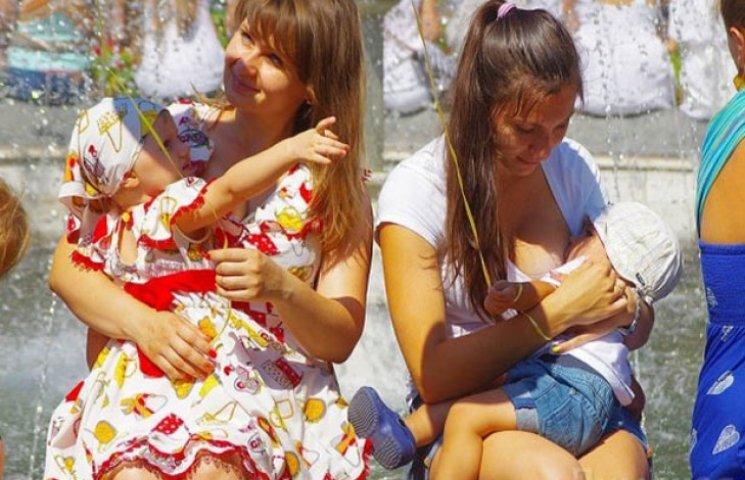 В центрі міста одеситки відзначили всесвітній тиждень грудного вигодовування