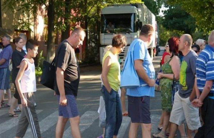 Рух центром Хмельницького перекрили протестувальники