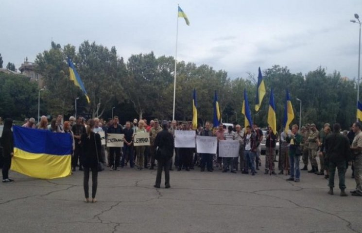 Біля Одеської ОДА мітингувальники вимагають голову Маркова