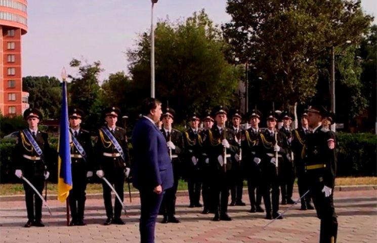 Саакашвілі взяв участь в урочистостях з нагоди Дня Державного Прапора