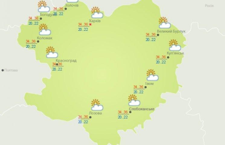 У Харкові сьогодні буде дуже спекотно