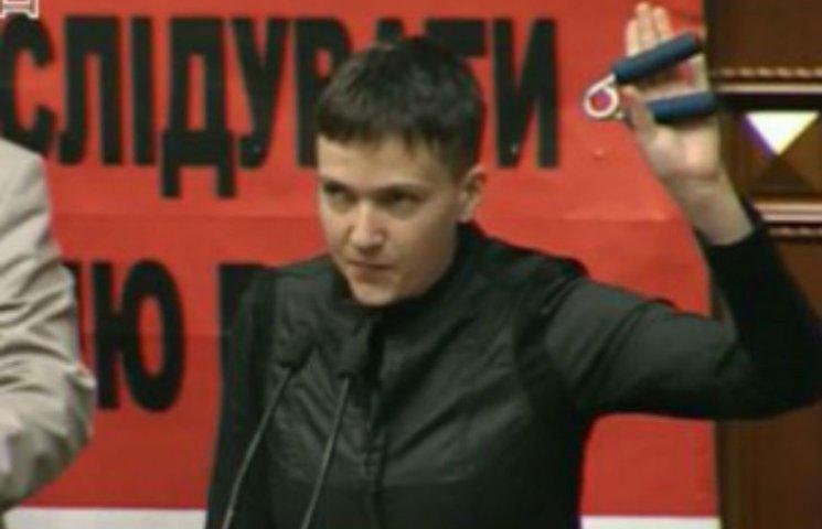 """Савченко каже, що поїде до ватажків """"ЛНР"""" та """"ДНР"""" з гранатою"""