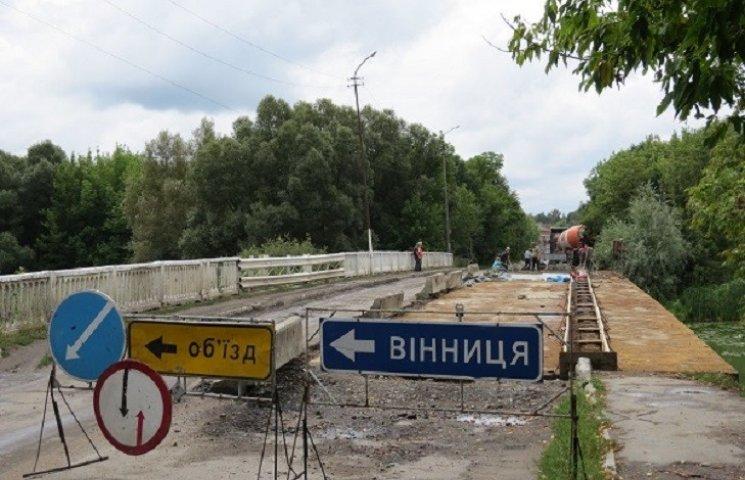 На Хмельниччині ремонтують міст, якому 56 років