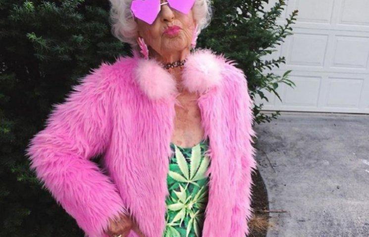 """Как живет звезда Instagram - 88 летняя бабушка-""""радуга"""""""