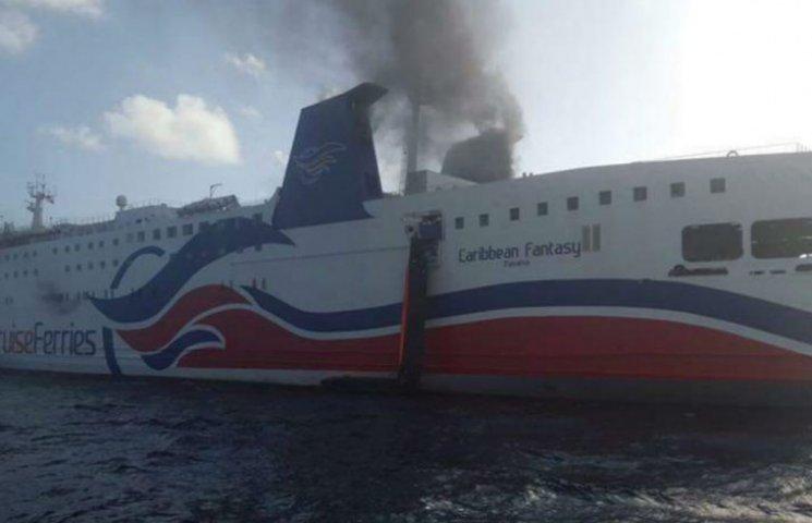 Возле Пуэрто-Рико загорелся паром с 500 пассажирами