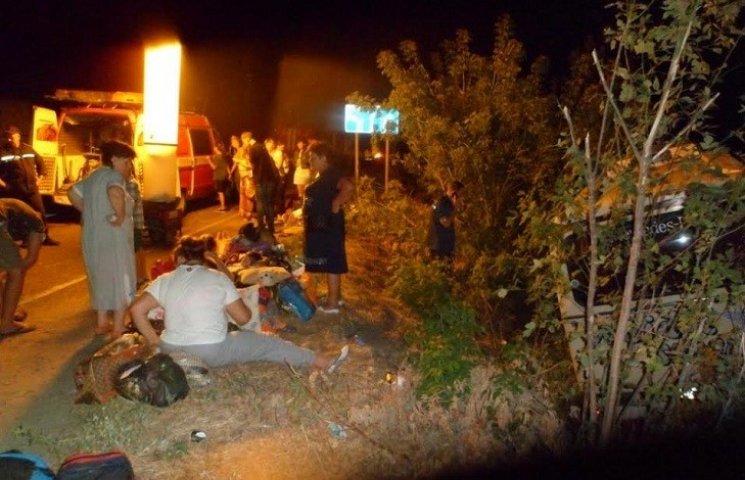 Кількість постраждалих в ДТП з туристичним автобусом на Запоріжжі зросла до 14 осіб