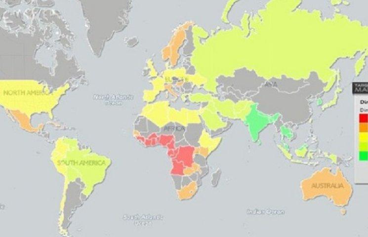 В сети появилась интерактивная карта, которая позволит мужчинам меряться пенисами