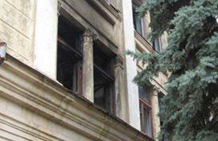 На Хортиці палала занедбана будівля інституту