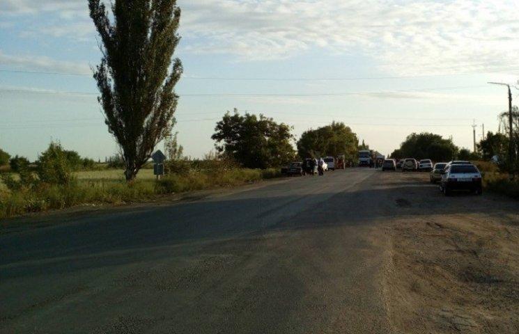 На Миколаївщині знов перекривали трасу Н-11