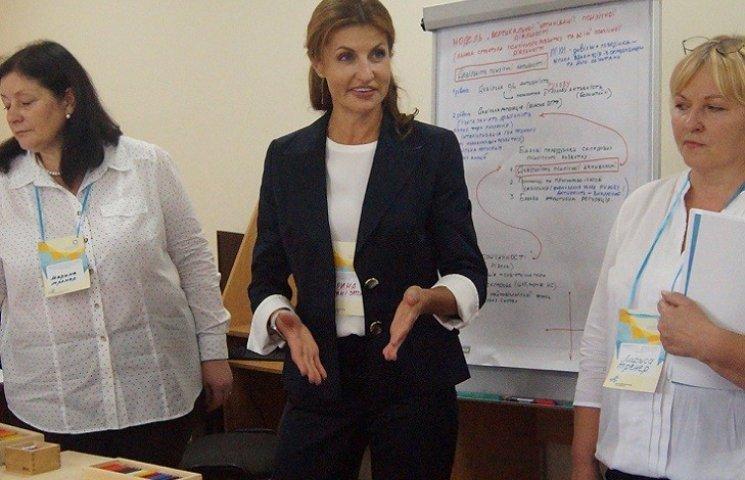 Стало відомо, в які запорізькі школи завітає на День знань Марина Порошенко