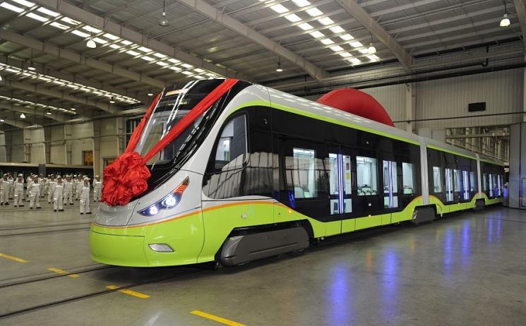 УКитаї випустили перший безпілотний трамвай