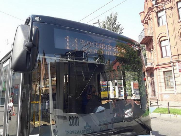 УДніпрі запустили нові безконтактні тролейбуси
