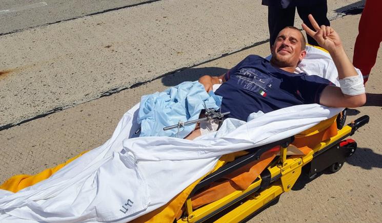 В Одесу на лікування привезли АТОвця, якому в ногу потрапила граната, що не розірвалася