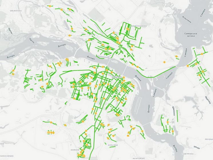 """У Дніпрі створили """"роз'яснювальну"""" карту декомунізованих назв вулиць міста"""