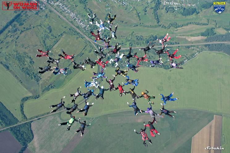 У Харкові парашутистки з 19 країн встановили світовий рекорд (ВІДЕО)