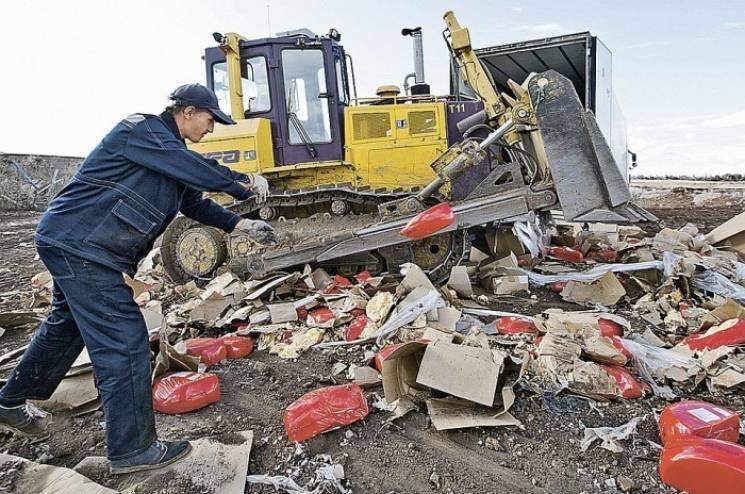 В окупованому Криму за три роки спалили майже 50 тонн якісних продуктів