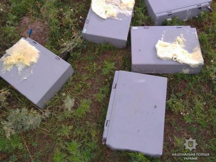 На Полтавщині копи розшукали розкрадача вежі оператора мобільного зв'язку (ФОТО)