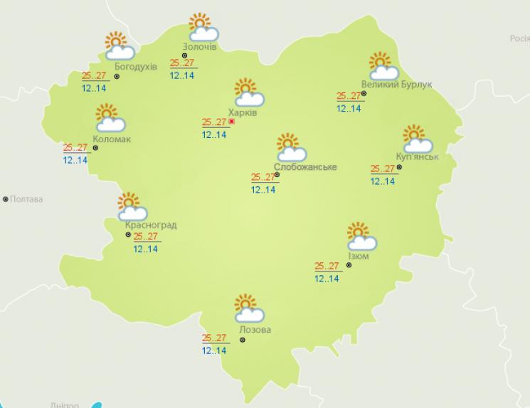 Субота у Харкові буде спекотною (ФОТО)